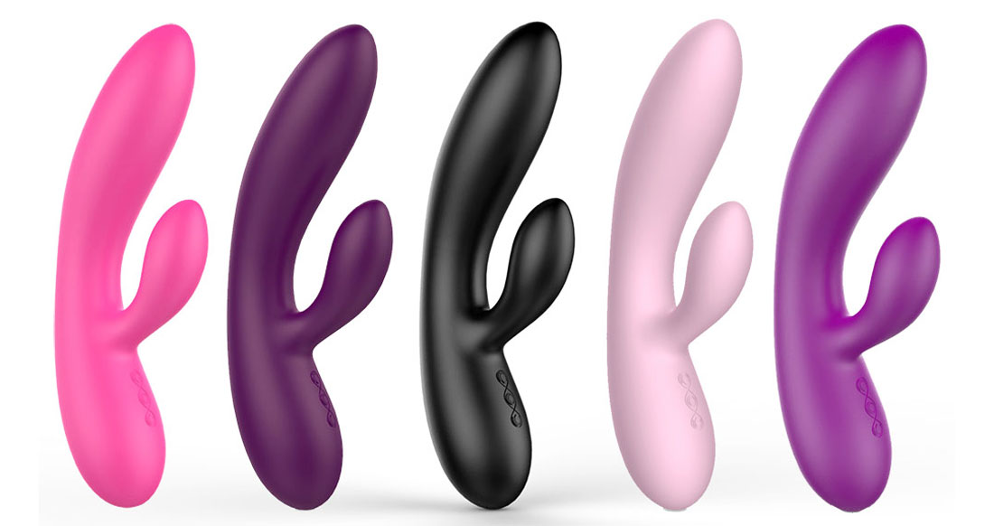 Sexy Toys Female silicone rabbit Vibrators-1