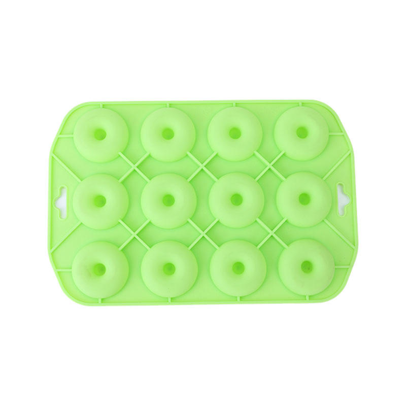 12 grids round Silicone Baking Pan Mold
