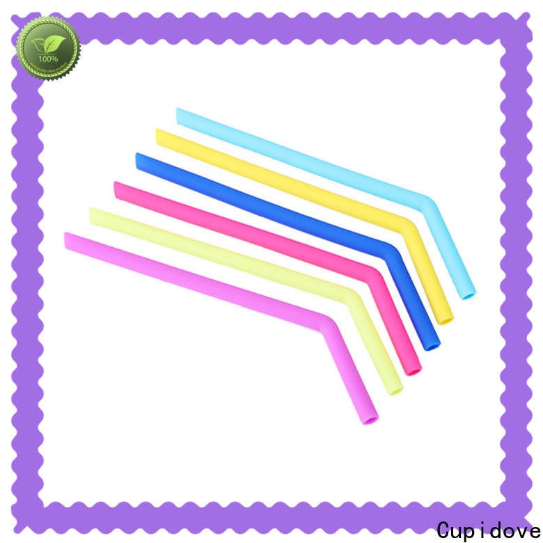 smooth reusable silicone straws supplier for dinner