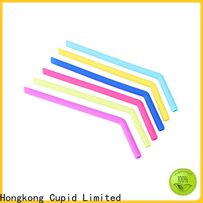 Cupidove eco-friendly reusable silicone straws directly sale for foods