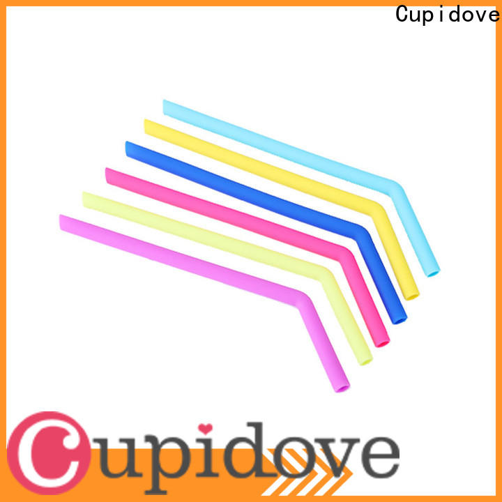 Cupidove smooth reusable silicone straws directly sale for kids