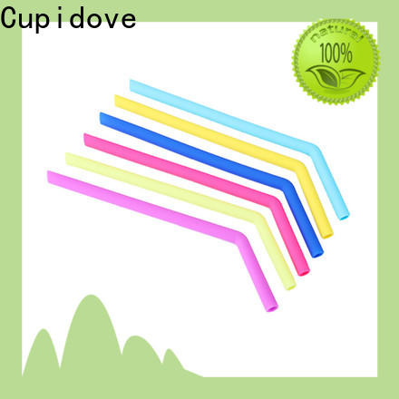 Cupidove large capacity reusable silicone straws factory for foods