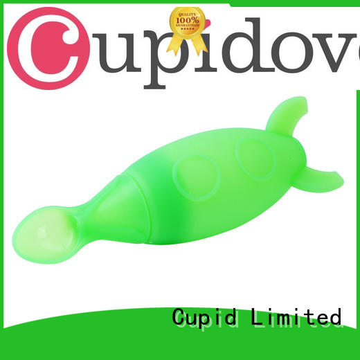 Customized green Silicone Baby spoon nipples